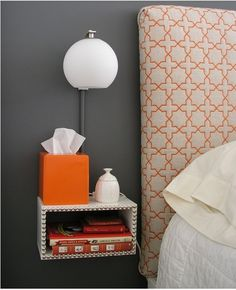 Headboard & bedside table