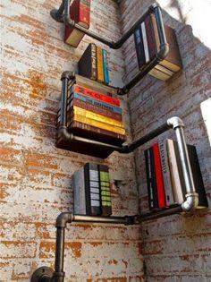 DIY Boekenkast van buizen