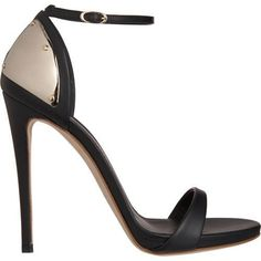 Giuseppe Zanotti Plated Heel Sandals... loving the subtle detail on these.