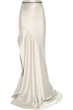 Shop for Bias-cut silk-satin maxi skirt by Roksanda Ilincic at ShopStyle. White Maxi Skirts, Long Maxi Skirts, Midi Skirts, Woolen Tops, Bias Cut Dress, Ankle Length Skirt, Asymmetrical Skirt, Roksanda, Silk Skirt