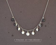 Sterling Silver Jewelry 925 Moon Phases Necklace Phases of the Moon Charms Sterling Silver Moon Necklace,Moon Phase Jewelry,Lunar Jewelry,Moon Jewelry,Astronomy Jewelry - Moon Phase Jewelry, Moon Jewelry, Cute Jewelry, Sterling Silver Jewelry, Jewelry Necklaces, Gold Jewellery, Silver Rings, Silver Bracelets, Pearl Necklaces
