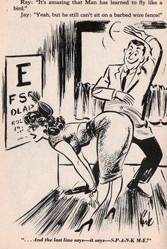 humorama kirk stiles patient bends over eye chart get spanked