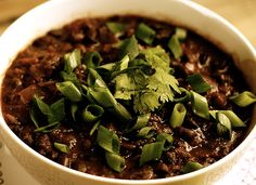 skinny vegetarian black bean and quinoa soup -- just made this, it's delish!