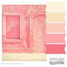 warm pink color palette