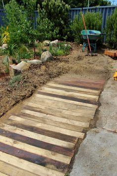 Crumbs: Wooden pallet walkway/footpath