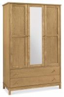 Atlanta Oak Triple Wardrobe #wardrobe #oak #furniture #bentleydesigns