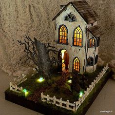 Calico Craft Parts: Blair Witch Manor - by Claudia Hands Reaching Out, Blair Witch, Gravel Path, Haunted Dollhouse, Altered Boxes, Fun Cup, Mdf Wood, Kit Homes, Creative Kids
