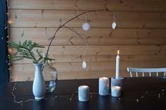 talo markki - marble candle holders