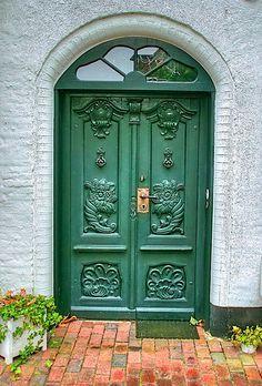 Fancy green door.