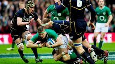 Ireland had possession of the ball but Scotland took the win on the 24th February at Murrayfield for the 6th Nations
