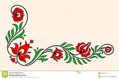 Traditional Hungarian Floral Motif - Download From Over 58 Million High Quality Stock Photos, Images, Vectors. Sign up for FREE today. Image: 55331255