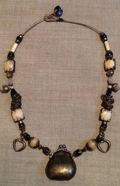 Opening purse handmade necklace