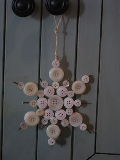 Snowflake Ornament - Shanty 2 Chic - an idea for all those shirt buttons from thrifted shirts