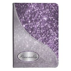 Glitter Glam Purple Kindle 4 Cover. #case #kindle #glitter #zazzle #personalize  Available in more colors.