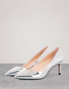 Bershka España - Zapato tacón medio metalizado