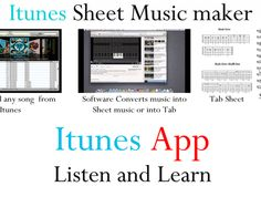 Convert any song from Itunes and turn them into printable sheet music or display them on your Iphone or Ipad    Where was this when I was in school?!