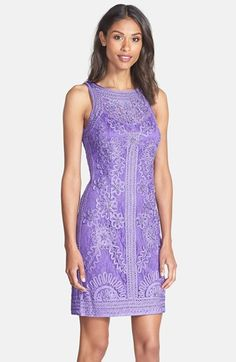 Sue Wong Embroidered Sheath Dress Nordstrom And