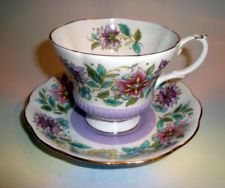 Purple Royal Albert Jacobean Cup & Saucer