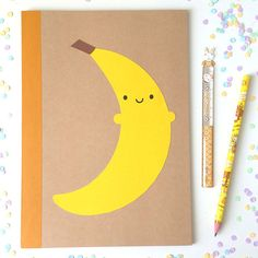 Happy Banana Papercut Notebook – Asking For Trouble #kawaii #cute