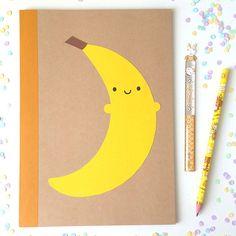 Happy Banana Papercut Notebook – Asking For Trouble #kawaii #cute