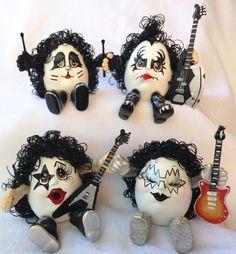 699081cd5 KISS BAND/4 MEMBERS/Ceramic Handmade/Unique Collectible/Rock&Roll  MemorabiliaDolls/Heavy Metal Gift/Unique Music Lover's Gift /Shock Rock