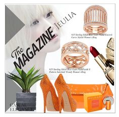 """Interlaid Trendy Women's Ring"" by allanaaa11 ❤ liked on Polyvore featuring Dsquared2, Casadei, Laura Ashley, Bulgari, women's clothing, women, female, woman, misses and juniors"