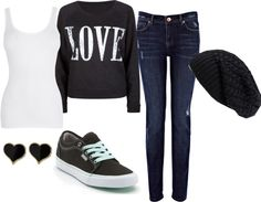 """""""School Outfit #4"""" by x-cookieangel on Polyvore"""