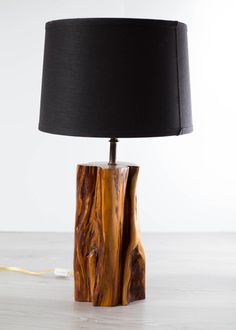 Table Lamp Wood, Wooden Lamp, Outdoor Wall Lighting, Living Room Lighting, Wood Stumps, Driftwood Lamp, Home Decoracion, Table Vintage, Table Lamps For Bedroom