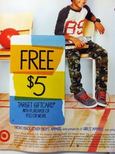 Look for Target Back to School mailer with coupons and possible free gift card offer!