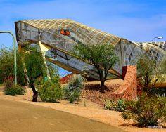Diamondback Bridge   Atlas Obscura. TUCSON , ARIZONA In Tucson a giant metal snake helps pedestrians cross a busy highway