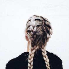 Most popular tags for this image include: hair, girl, fashion, braids and grunge