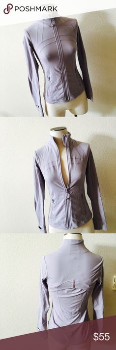 Lululemon purple zip up One tiny spot as pictured. no trades. lululemon athletica Sweaters Cardigans