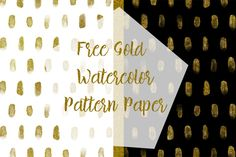DLOLLEYS HELP: Free Gold Watercolor Pattern Paper