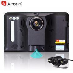 Junsun 7 inch Android Car DVR GPS Radar Dash Camera Video Recorder 16GB Rear view Truck GPS Navigation FM AVIN WIFI sat nav #Affiliate