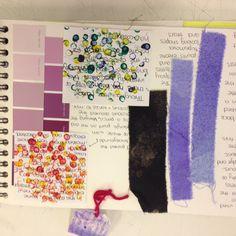 GCSE textile sketchbook Textiles Sketchbook, Sketchbook Pages, Fashion Sketchbook, Sketchbook Ideas, Moodboard Inspiration, Teacher Inspiration, Colour Board, Color, Gcse Art