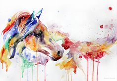 I want a watercolor horse tattoo someday. Zebra Kunst, Zebra Art, Watercolor Horse, Watercolor Animals, Watercolor Tattoos, Watercolour Painting, Watercolors, Zebras, Arte Equina