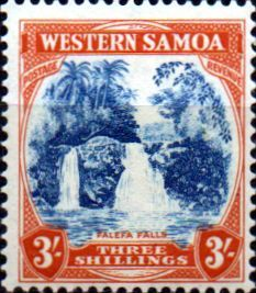 Samoa 1935 SG 188 Falfefa Falls Fine Mint SG 188 Scott 174 Condition Fine MNH Only one post charge applied on multipule purchases Details N B With