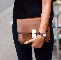 Celine Box Bag Brown