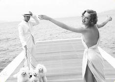 Fashion editorial: Natalia Vodianova and Justin Portman by Mario Testino for Vogue US July 2007