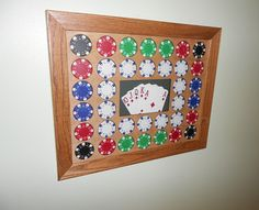 Harley Davidson or Casino Poker Chip Display by CarvedByHeart