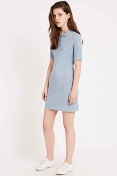 Lacoste Live Polo Shirt Dress in Sky Blue