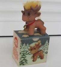 Very, very rare vintage DAM Troll REINDEER - 1960s BOXED!!!