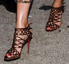 """Olivia Palermo Is Eclectic Chic in Christian Louboutin """"Zigouwi"""" Sandals"""