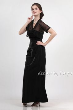 Sophisticated Taffeta Mermaid Style Evening Dress with A by livapo, $120.00