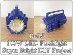 How to Build LED Flashlight Super Bright DIY Project in is detailed step by step tutorial will help you get maximum brightness for the most affordable Natural Cleaning Recipes, Natural Cleaning Products, Hobby Electronics, Electronics Projects, Diy Tech, Led Diy, Homestead Survival, Raising Chickens, Science Lessons
