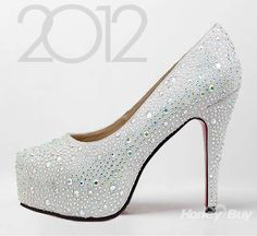 Charm Shine Fashion Unique Wedding Shoes New Arrival High Heels