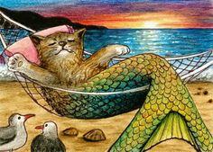 BADGE EVENT: Mermaid Cats?!