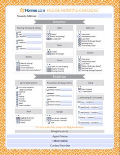 Homes.com has conveniently created a House Hunting #Checklist that you can personalize and share with #clients and prospects to make the home #buying process easier for both you and your clients!