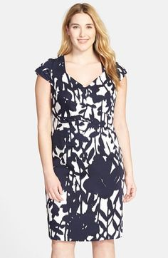 Adrianna+Papell+Cap+Sleeve+Sheath+Dress+(Plus+Size)+available+at+#Nordstrom