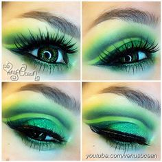 Luscious Emerald City look by the talented VenusOcean using Sugarpill, Inglot and Urban Decay!